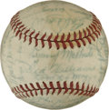 Autographs:Baseballs, 1946 Boston Red Sox Team Signed Baseball. A total of 33 playersfrom the 1946 American League pennant winners have signed t...