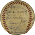 Autographs:Baseballs, 1940 Cleveland Indians Team Signed Baseball. 1940 was aparticularly strong year for the Cleveland Indians, finishing just...