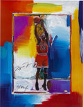 Basketball Collectibles:Others, Michael Jordan Signed Peter Max Lithograph. Limited edition(92/423) lithograph proves that Leroy Neiman isn't the only skil...