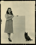 "Movie Posters:Musical, Judy Garland and Toto in ""The Wizard of Oz"" Contact Proof byClarence Sinclair Bull (MGM, 1939). Still (8"" X 10"")...."