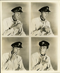 "Humphrey Bogart in ""To Have and Have Not"" Proof Sheet by Longworth (Warner Brothers, 1944). Still (8"" X 1..."