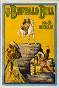 "Movie Posters:Western, The Life of Buffalo Bill (Pawnee Bill Film Co., 1912). One Sheet(28"" X 42"")...."