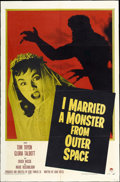 """Movie Posters:Science Fiction, I Married a Monster from Outer Space (Paramount, 1958). One Sheet(27"""" X 41"""")...."""