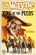 "Movie Posters:Western, King of the Pecos (Republic, 1936). One Sheet (27"" X 41"")...."