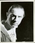 """Movie Posters:Miscellaneous, Bela Lugosi Publicity Still (1930s). Autographed Still (8"""" X 10"""")...."""