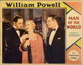 "Movie Posters:Romance, Man of the World (Paramount, 1931). Lobby Card (11"" X 14"")...."