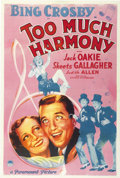 "Movie Posters:Comedy, Too Much Harmony (Paramount, 1933). One Sheet (27"" X 41"")...."