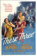 "Movie Posters:Drama, These Three (United Artists, 1936). One Sheet (27"" X 41"")...."