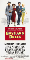 """Movie Posters:Musical, Guys and Dolls (MGM, 1955). Three Sheet (41"""" X 81""""). Musical...."""