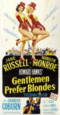 "Movie Posters:Musical, Gentlemen Prefer Blondes (20th Century Fox, 1953). Three Sheet (41"" X 81"")...."