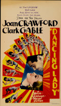 "Movie Posters:Musical, Dancing Lady (MGM, 1933). Midget Window Card (8"" X 14"")...."