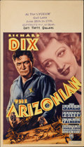 "Movie Posters:Western, The Arizonian (RKO, 1935). Midget Window Card (8"" X 14"")...."