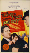 "Movie Posters:Drama, Big City (MGM, 1937). Midget Window Card (8"" X 14"")...."
