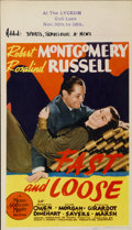 """Movie Posters:Mystery, Fast and Loose (MGM, 1939). Midget Window Card (8"""" X 14"""")...."""