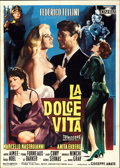 "Movie Posters:Drama, La Dolce Vita (Cineriz, 1960). Italian 2 - Folio (39"" X 55"")...."