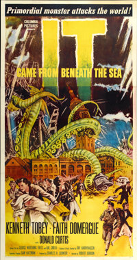 """It Came From Beneath the Sea (Columbia, 1955). Three Sheet (41"""" X 81"""")"""