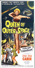 "Movie Posters:Science Fiction, Queen of Outer Space (Allied Artists, 1958). Three Sheet (41"" X81"")...."