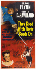 "Movie Posters:Western, They Died With Their Boots On (Warner Brothers, 1941). Three Sheet(41"" X 81"")...."