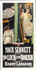 "Movie Posters:Comedy, The Luck O' the Foolish (Pathé, 1924). Three Sheet (41"" X 81"")...."