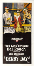 "Movie Posters:Comedy, Derby Day (Hal Roach, 1923). Three Sheet (41"" X 81"")...."