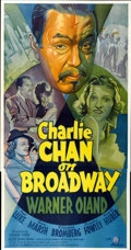 """Movie Posters:Mystery, Charlie Chan on Broadway (20th Century Fox, 1937). Three Sheet (41""""X 81"""")...."""