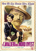 "Movie Posters:Western, She Wore a Yellow Ribbon (RKO, 1950). Italian 2 - Folio (39"" X55"")...."