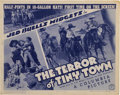 "Movie Posters:Western, The Terror of Tiny Town (Columbia, 1937). Title Lobby Card (11"" X 14"")...."