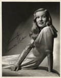 "Movie Posters:Film Noir, Veronica Lake in ""This Gun for Hire"" Publicity Still (Paramount,1942). Autographed Still (10"" X 13"")...."