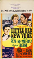 "Movie Posters:Comedy, Little Old New York (20th Century Fox, 1940). Midget Window Card(8"" X 14"")...."