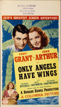 "Movie Posters:Drama, Only Angels Have Wings (Columbia, 1939). Midget Window Card (8"" X14"")...."