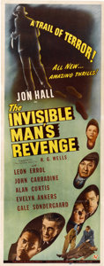 """Movie Posters:Horror, The Invisible Man's Revenge (Universal, 1944). Insert (14"""" X 36"""")...."""