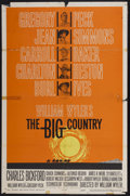 """Movie Posters:Western, The Big Country (United Artists, 1958). One Sheet (27"""" X 41"""") Style B. Western...."""