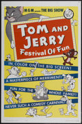 "Movie Posters:Animated, Tom and Jerry: Festival of Fun (MGM, 1962). One Sheet (27"" X 41"").Animated...."