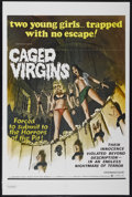 """Movie Posters:Sexploitation, Caged Virgins (Boxoffice International Pictures, 1973). One Sheet(28"""" X 42""""). Sexploitation...."""