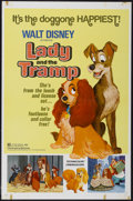 "Movie Posters:Animated, Lady and the Tramp (Buena Vista, R-1972). One Sheet (27"" X 41""). Animated...."