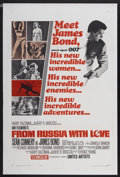 """Movie Posters:James Bond, From Russia with Love (United Artists, 1964). One Sheet (27"""" X 41""""). James Bond...."""