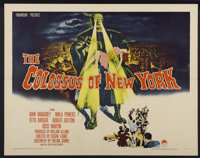 "The Colossus of New York (Paramount, 1958). Half Sheet (22"" X 28""). Science Fiction"