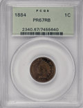 Proof Indian Cents, 1884 1C PR67 Red and Brown PCGS....