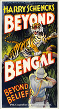 "Movie Posters:Adventure, Beyond Bengal (Showmens Pictures, 1934). Three Sheet (41"" X81"")...."