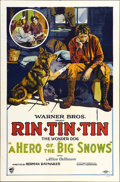 "Movie Posters:Adventure, Hero of the Big Snows (Warner Brothers, 1926). One Sheet (27"" X41"")...."