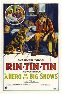 """Hero of the Big Snows (Warner Brothers, 1926). One Sheet (27"""" X 41"""")"""