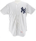 Baseball Collectibles:Uniforms, 1982 Roger Erickson Game Worn Jersey. Attractive example of the iconic New York Yankees home pinstripe jersey, worn during ...