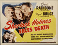 """Movie Posters:Mystery, Sherlock Holmes Faces Death (Universal, 1943). Title Lobby Card(11"""" X 14"""")...."""