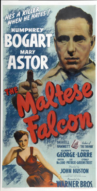 "The Maltese Falcon (Warner Brothers, 1931). Three Sheet (41"" X 81"")"