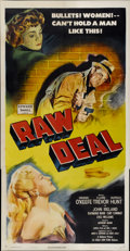 "Movie Posters:Film Noir, Raw Deal (Eagle Lion, 1948). Three Sheet (41"" X 81"")...."
