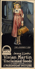"""Movie Posters:Comedy, Unclaimed Goods (Paramount, 1918). Three Sheet (41"""" X 81"""")...."""
