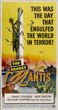 "Movie Posters:Science Fiction, The Deadly Mantis (Universal International, 1957). Three Sheet (41""X 81"")...."