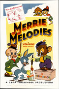 "Movie Posters:Animated, Merrie Melodies (Warner Brothers, 1940-41). One Sheet (27"" X 41"")...."