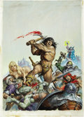 Original Comic Art:Covers, Earl Norem Savage Sword of Conan #16 Cover Painting OriginalArt (Marvel, 1976)....