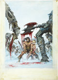 Original Comic Art:Covers, Earl Norem Savage Sword of Conan #39 Cover Painting OriginalArt (Marvel, 1979)....